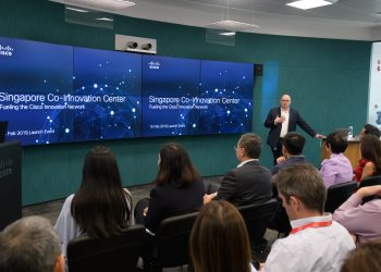 Alex Goryachev, Managing Director, Cisco Innovation Centers, at the newly launched  Co-Innovation Centre. PHOTO from Cisco