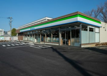 Next-generation convenience store, FamiltyMart Saedo Store. PHOTO from Panasonic
