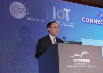 Nicholas W. Yang, Hong Kong's Secretary for Innovation and Technology, attends Hong Kong IoT Conference 2019 as guest of honor.