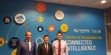 From left to right Erich Gerber of TIBCO, Daniel Wee of NYP and Alan Ho of TIBCO