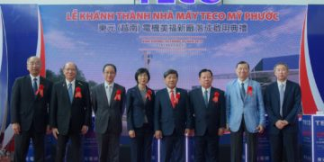 Teco Group executives at the opening of the company's new plant in Vietnam