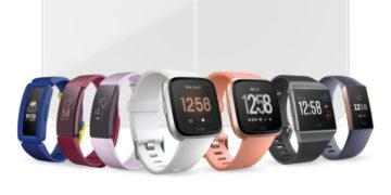 Render of 2019 Q1 Fitbit product family, with Aria 2