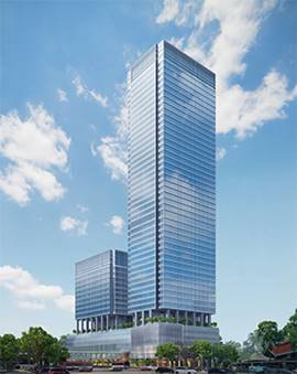 Artist impression of Singapore's Central Boulevard Towers.