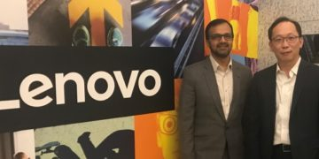 Vinay Solanki, head of IoT business, Lenovo (left), and Ronald Wong, general manager for Hong Kong and Macau, Lenovo (right)