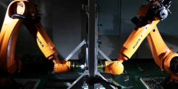 "Nissan has developed ""dual-sided dieless forming,"" a technique using robots to make car parts out of sheet steel. This could make replacement parts for discontinued models more widely available for customers. Thanks to its flexible production, short lead times and minimal upfront costs, the new technique could make it commercially viable to produce and sell a wide variety of after-service and replacement parts in small volumes for cars that Nissan no longer makes. This was previously not possible due to the high upfront costs and long lead times to develop and make dies for stamped parts."
