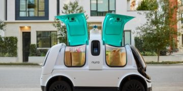 Nuro self-driving road vehicle. Nuro, a maker of autonomous delivery vehicles, is first company to receive investment from Woven Planet under its Woven Capital unit.