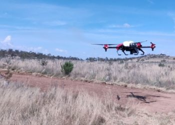 XAG Agricultural Drone seeded the degraded pasture in Australia.