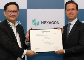 Lim Boon Choon, president, Hexagon Manufacturing Intelligence for Korea, ASEAN, Pacific and India; and Swedish ambassador to Singapore  Niclas Kvarnstrom